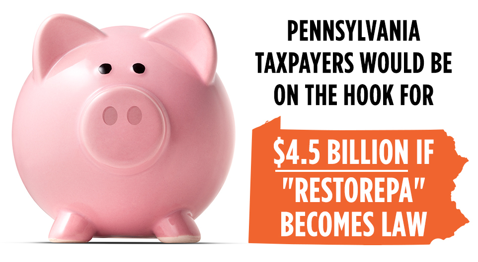Pennsylvania taxpayers would be on the hook for $4.5 billion if